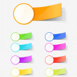 Set of colour labels — Vektorgrafik
