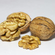 Walnuts on white background — 图库照片