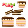 Stock Vector: Set of sweets