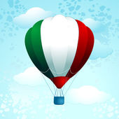 Hot air balloon, Italian colors — Stock Vector