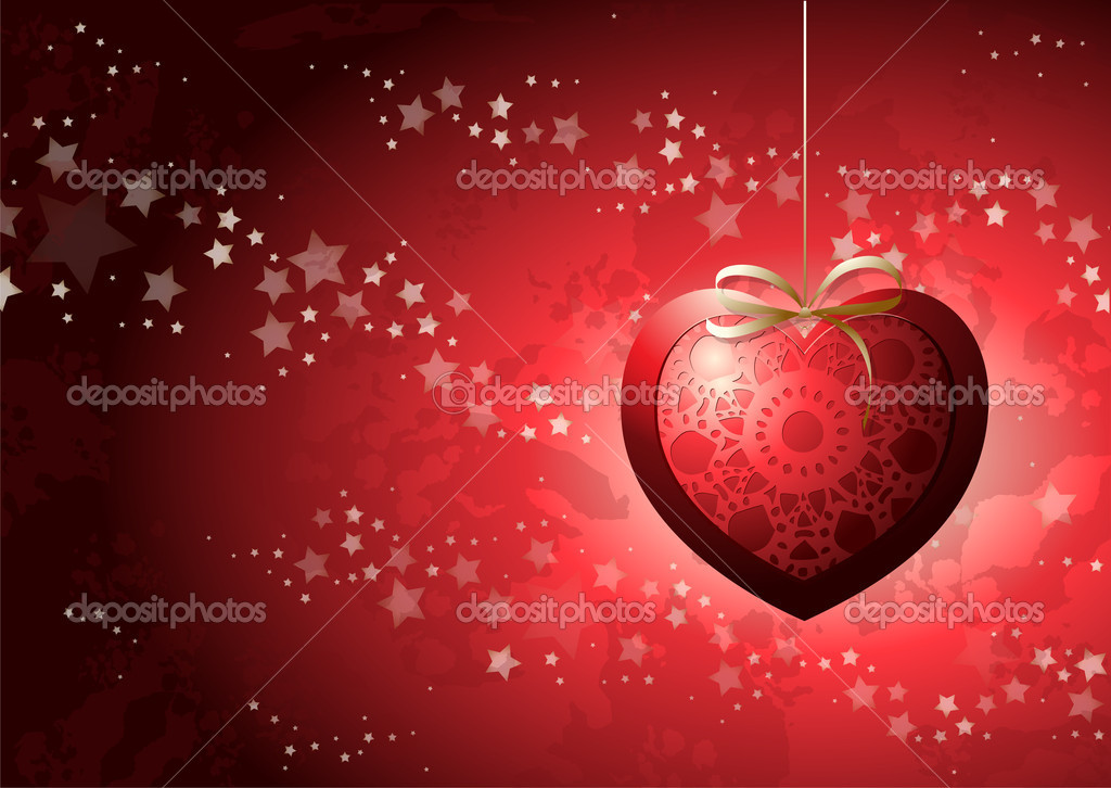 Valentine card, vector background — Vettoriali Stock  #8136270