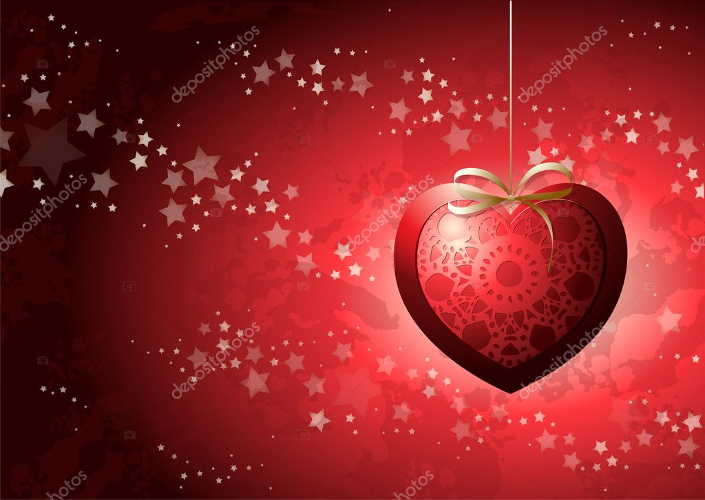 Valentine card, vector background  Imagens vectoriais em stock #8136270