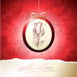 Valentine card with rose — Vector de stock