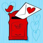 Kärleksbrev — Stockvektor