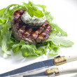Стоковое фото: Grilled beefsteak with herbal butter