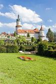Castle of Nove Mesto nad Metuji with garden, Czech Republic — Stock Photo