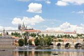Hradcany with Charles bridge, Prague, Czech Republic — Stock Photo
