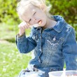Little girl at picnic — Stock fotografie #10480776