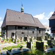 Wooden church in Slavonov, Czech Republic - Stockfoto