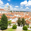 Vrtbovska Garden and Saint Nicholas Church, Prague, Czech Republ — Foto de Stock