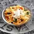 Spaghetti with tomatoes — Stock Photo #8036705