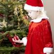 Little girl as Santa Claus — Stock Photo
