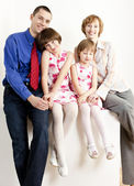 Parents with their daughters — Stock Photo