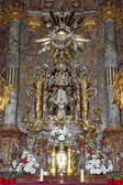 Interior of church of Saint Mary with Infant Jesus Of Prague — Stock Photo