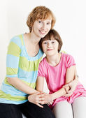 Portrait of mother with her daughter — Stock Photo