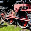 Stock Photo: Detail of steam locomotive in railway museum, JaworzynSlaska,