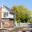 Railway museum and railway station, Heckington, East Midlands, E - Stock Photo