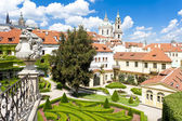 Vrtbovska bahçe ve aziz nikolaos kilisesi, prag, çek republ — Stok fotoğraf