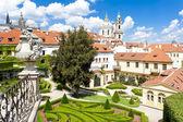 Vrtbovska Garden and Saint Nicholas Church, Prague, Czech Republ — Stock Photo