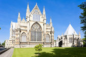 Cathedral of Lincoln, East Midlands, England — Stock Photo