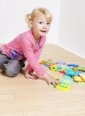 Playing little girl — Stock Photo