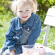 Little girl at picnic — Stock fotografie #9543935