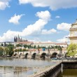 Lavka and Hradcany with Charles bridge, Prague, Czech Republic — Foto Stock