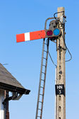 Marker in railway museum, Heckington, East Midlands, England — Stock Photo