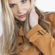 Stock Photo: Portait of womwearing coat