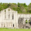 Ruins of Rievaulx Abbey, North Yorkshire, England - Stock Photo