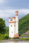 Binger Maeuseturm, Mouse Tower on Mouse Island, Rhineland-Palati — Stock Photo