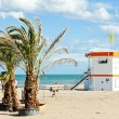 Stock Photo: Lifeguard cabin on beach in Narbonne Plage, Languedoc-Roussi