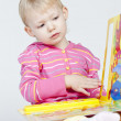 Little girl with a book — Stock Photo