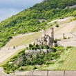 Stock Photo: Ruins of Ehrenfels Castle, Rhineland-Palatinate, Germany