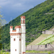 Binger Maeuseturm, Mouse Tower on Mouse Island, Rhineland-Palati - Stock Photo