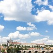 Hradcany with Charles bridge, Prague, Czech Republic — Stock Photo