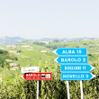 Signposts near Barolo, Piedmont, Italy - Stock Photo