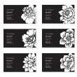 Vector floral Business-Karten-set — Vektorgrafik