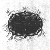 Ornamenti e cornice grunge vettoriale — Vettoriale Stock