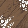Vector Wood and Blossom Background - Stock Vector