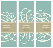 Vector Pastel Tall Ornament Frame Set — Stock Vector