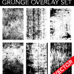 Vector Grunge Overlay Set — Stock Vector