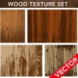 Royalty-Free Stock Vector Image: Vector Wood Texture Set