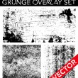 Vector Grunge Overlay Set — Stockvectorbeeld