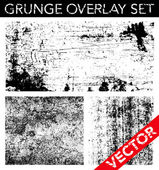 Vector Grunge Overlay Set — Stock vektor