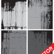 Vector Grunge Texture Set — Stock Vector