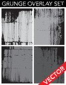 Set de textura grunge vector — Vetor de Stock