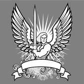 Vector Angel Warrior — Stock Vector