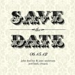 Stock Vector: Vector Vintage Save Date Card