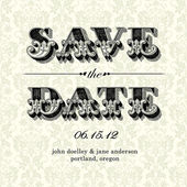 Vector Vintage Save the Date Card — Stock Vector